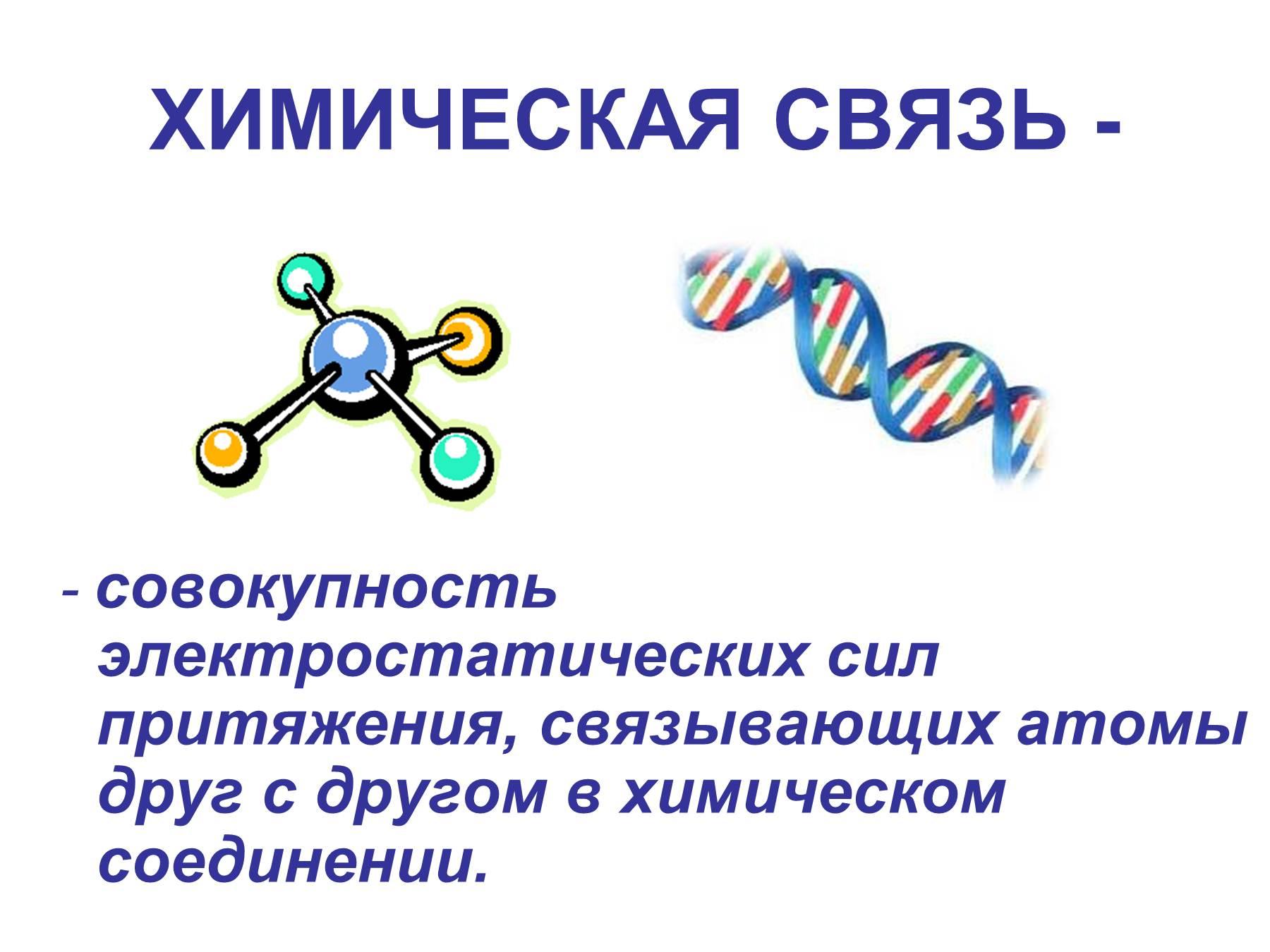 Схема виды химические связи