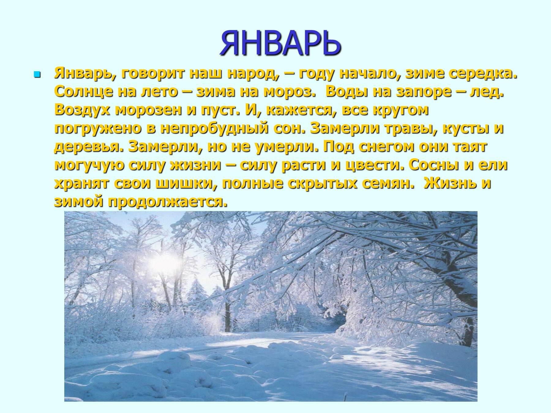 Месяц январь-зимы государь почему так говорят
