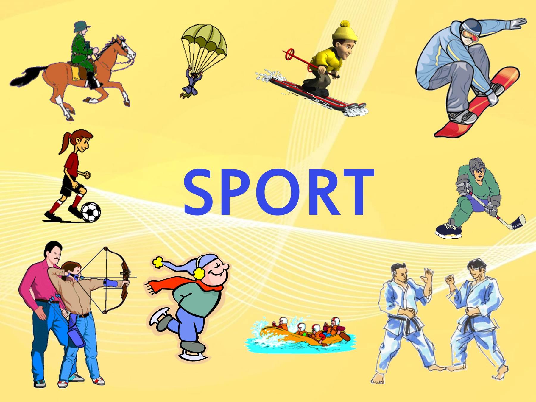 Картинки виды спорта на английском