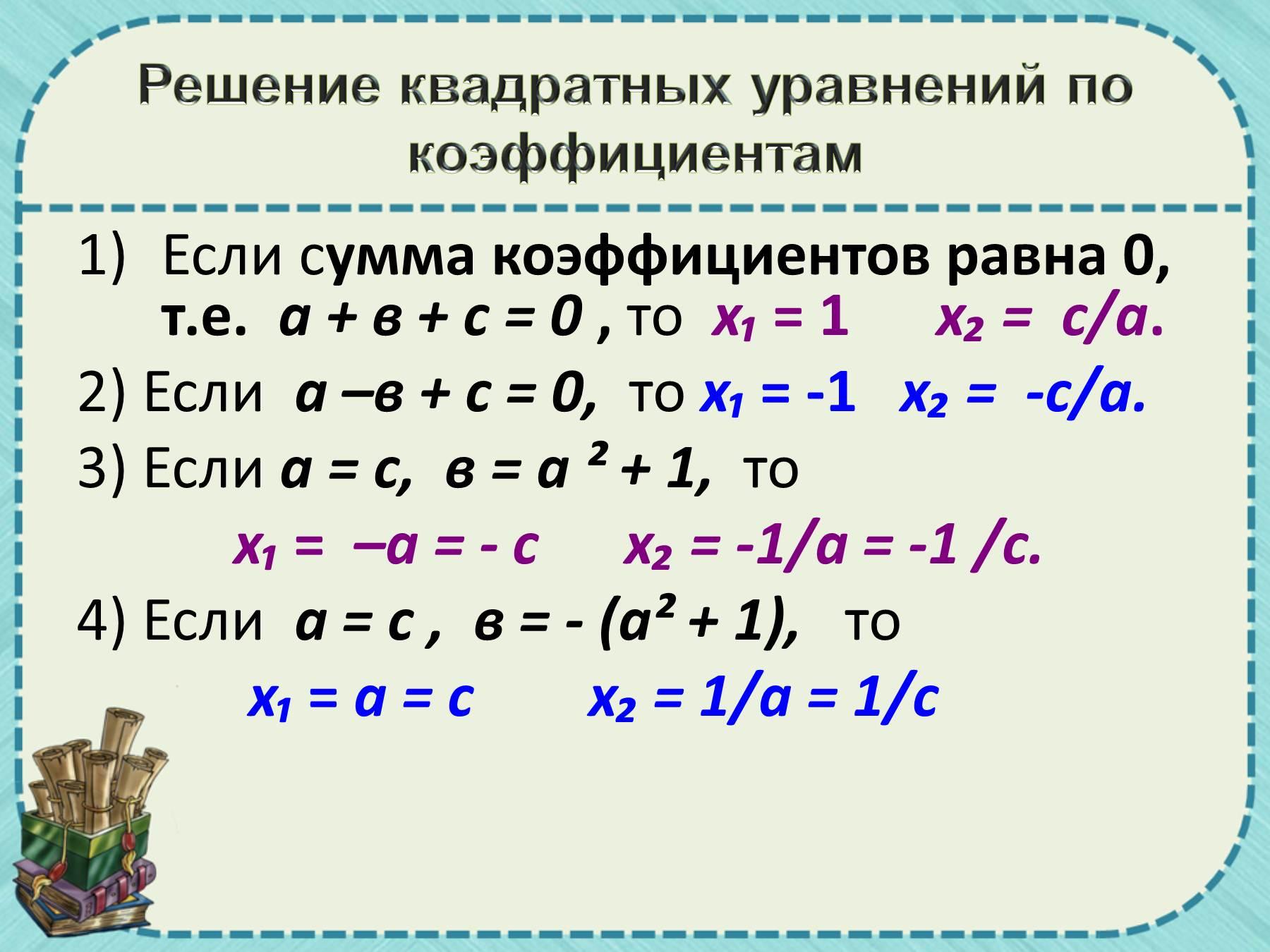 решения квадратного неравенства с помощью графика квадратичной функции