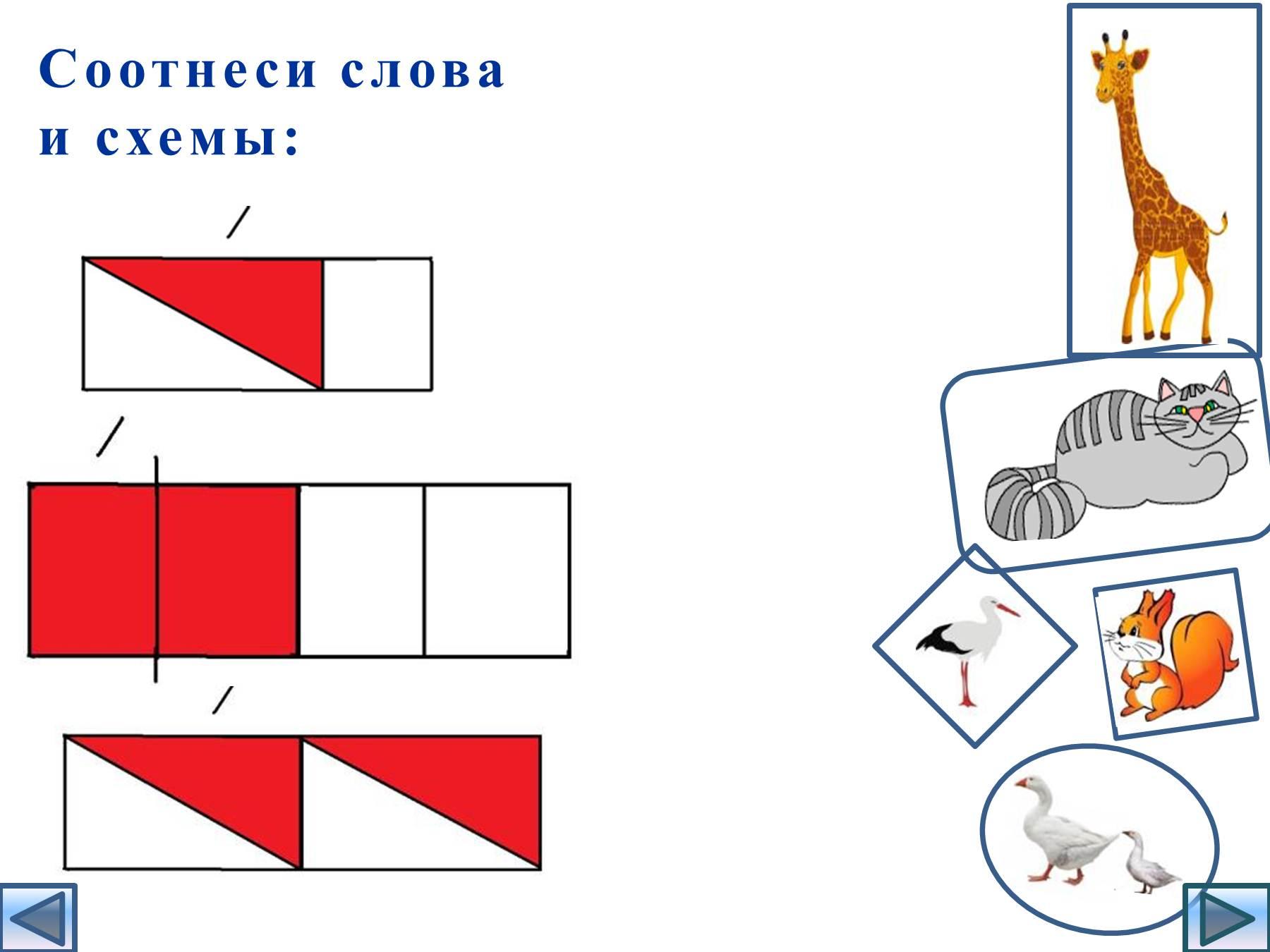 Схема слога в слове заяц