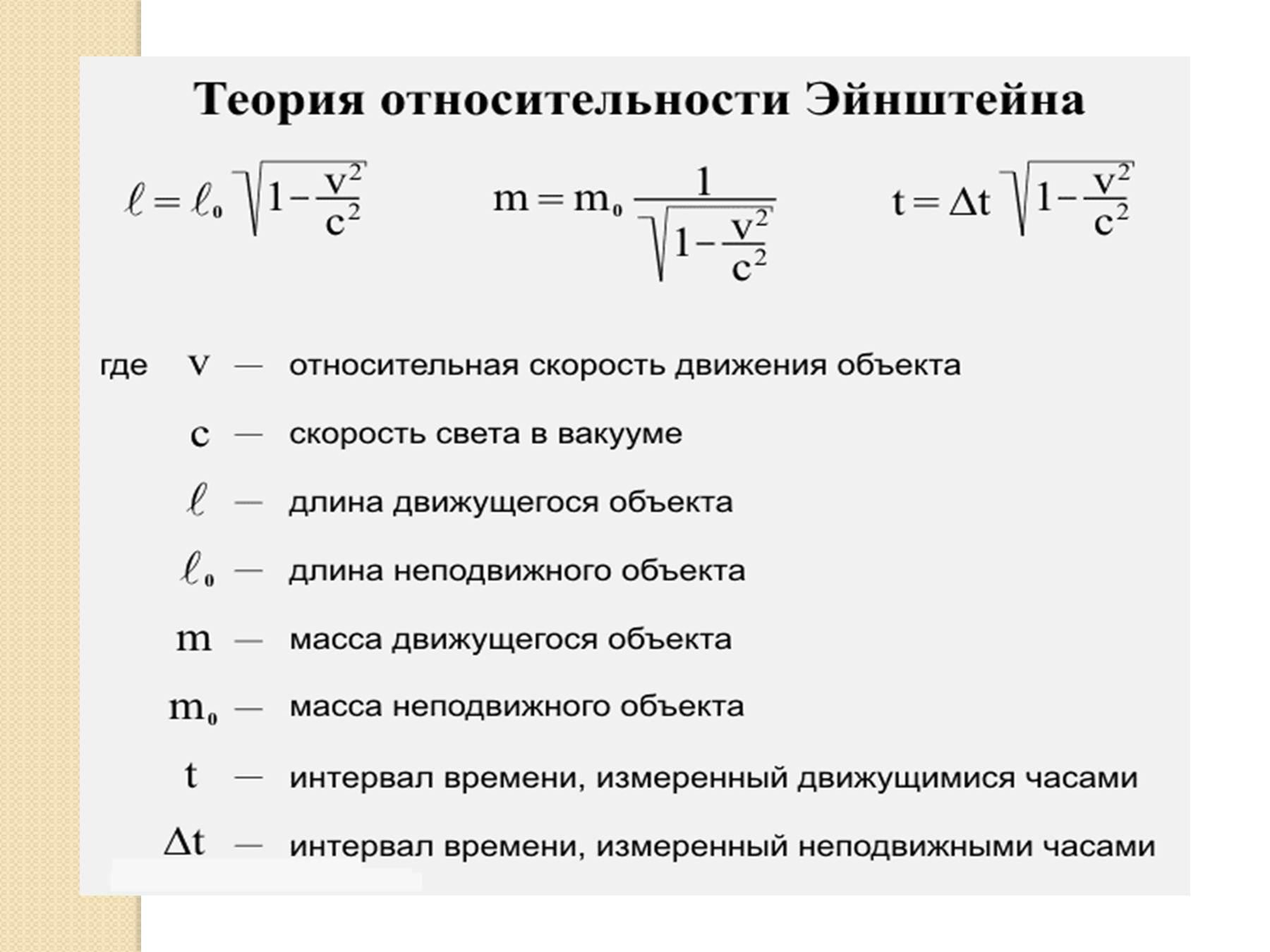 основном специальная теория относительности в картинках возникновении короткого замыкания