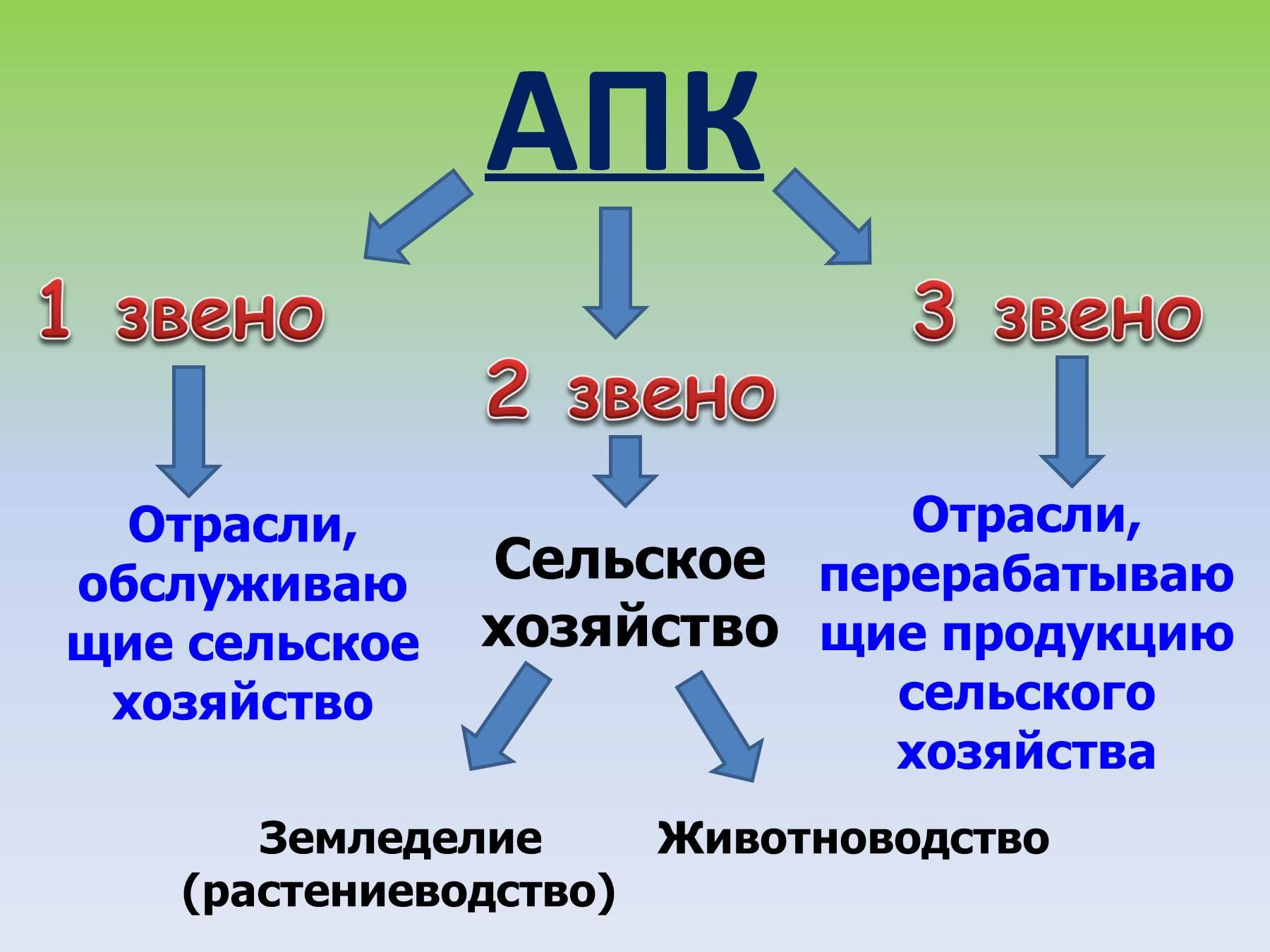 Схема апк по географии 8