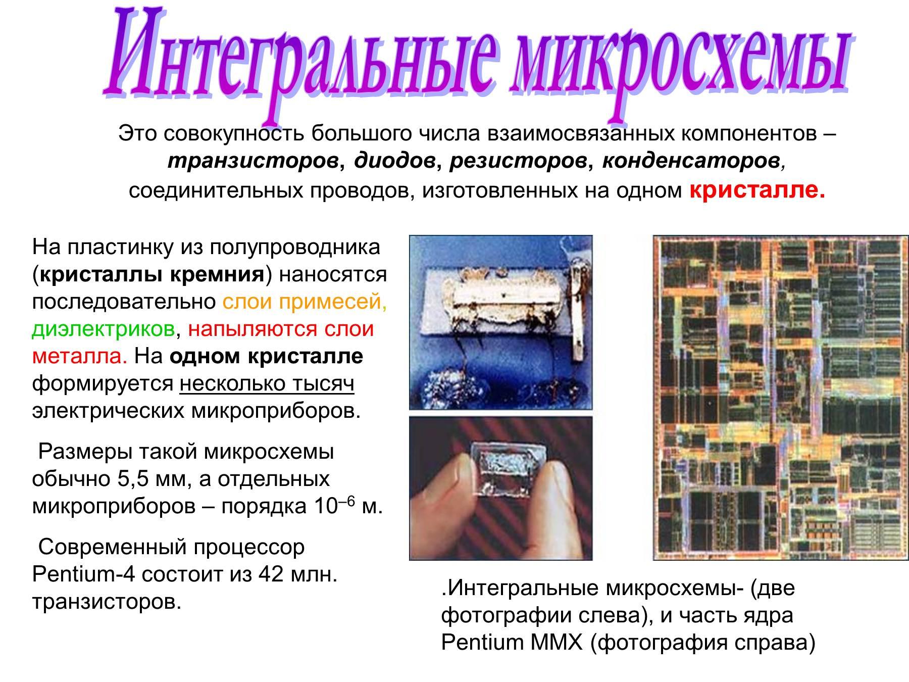 Интегральные диоды полупроводниковых интегральных схем это