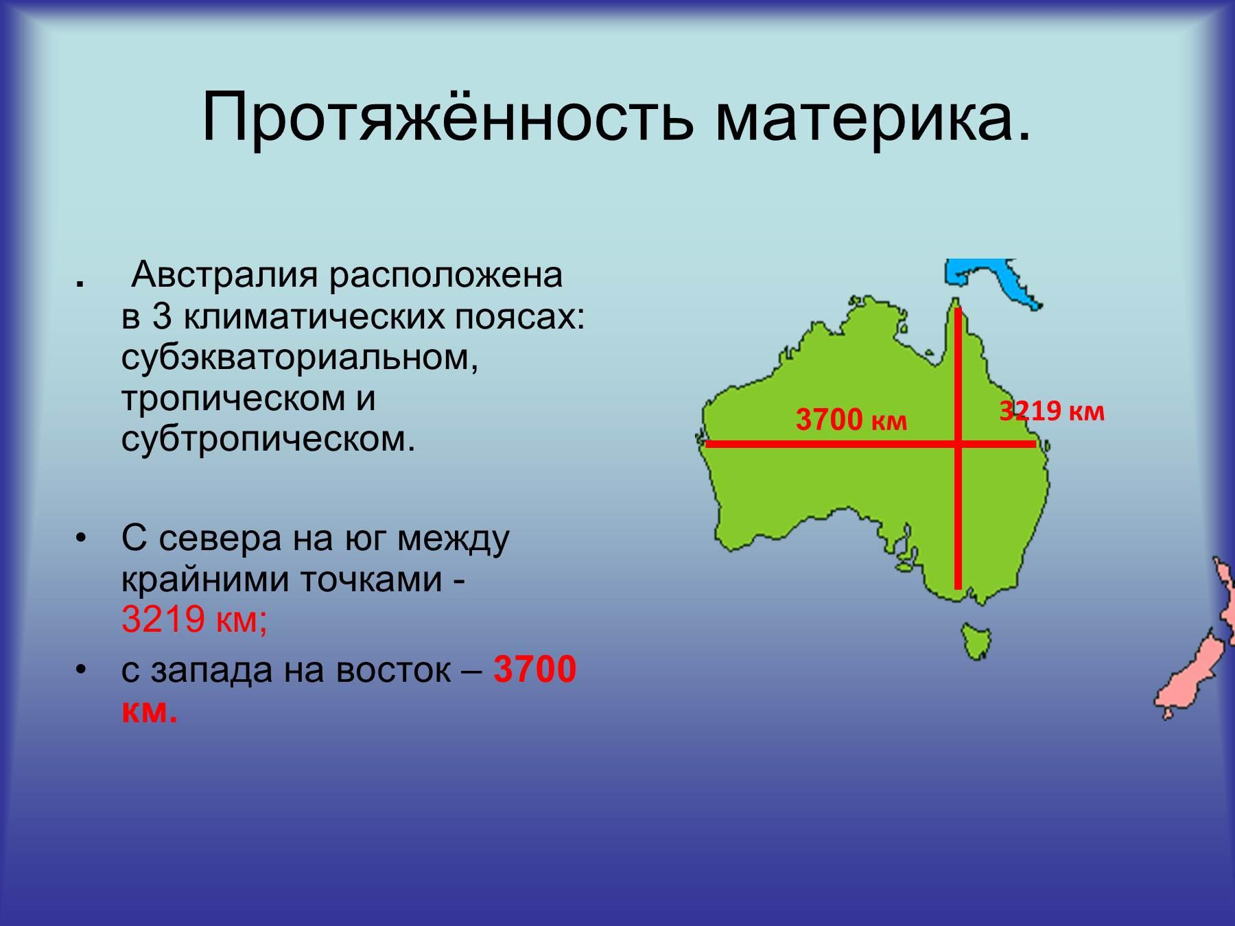 материк занимает третье место по площади