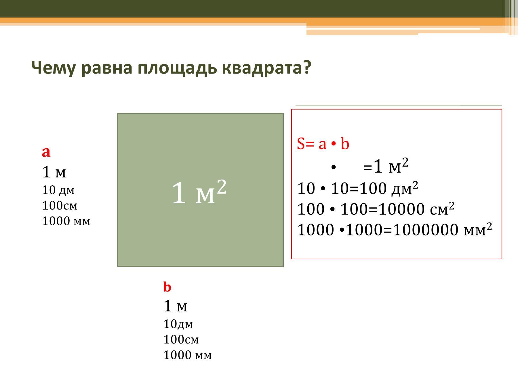 Сколько в 1 см2 дм2 таблица